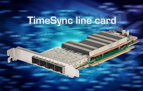 Silicom STS1 TimeSync line card for 4G and 5G real-time data transmission with high timing accuracy